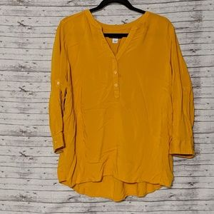 Simply Styled Womens blouse Mustard yellow SZ:XL
